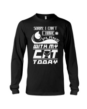 PLANS WITH MY CAT Long Sleeve Tee thumbnail
