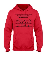 MUSIC AND CATS Hooded Sweatshirt thumbnail