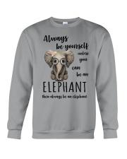 ALWAYS BE YOURSELF- ELEPHANT Crewneck Sweatshirt thumbnail