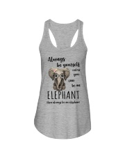 ALWAYS BE YOURSELF- ELEPHANT Ladies Flowy Tank thumbnail