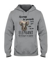 ALWAYS BE YOURSELF- ELEPHANT Hooded Sweatshirt thumbnail