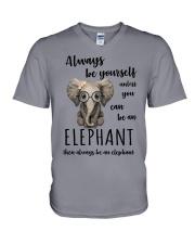 ALWAYS BE YOURSELF- ELEPHANT V-Neck T-Shirt thumbnail