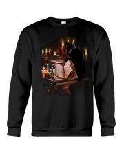 black cat book  Crewneck Sweatshirt thumbnail