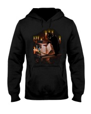 black cat book  Hooded Sweatshirt front