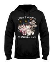 JUST A WOMAN LOVE CATS Hooded Sweatshirt front