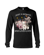 JUST A WOMAN LOVE CATS Long Sleeve Tee thumbnail