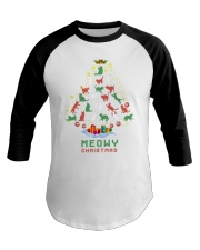 Meowy Christmas Baseball Tee tile