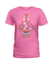 Meowy Christmas Ladies T-Shirt thumbnail