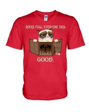 EVERYONE DIES - GOOD V-Neck T-Shirt thumbnail