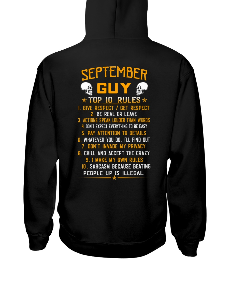 US-GUY RULES-9 Hooded Sweatshirt
