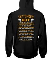 US-GUY RULES-9 Hooded Sweatshirt back