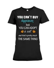 ADOPT A CAT  Premium Fit Ladies Tee thumbnail