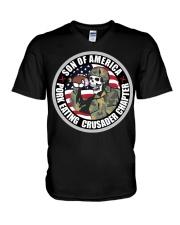 PORK EATING CRUSADER V-Neck T-Shirt thumbnail