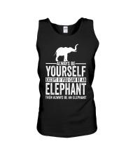 ALWAYS BE YOURSELF-ELEPHANT Unisex Tank thumbnail