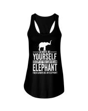 ALWAYS BE YOURSELF-ELEPHANT Ladies Flowy Tank thumbnail