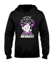 LOVES YOU MORE THAN HERSELF Hooded Sweatshirt thumbnail