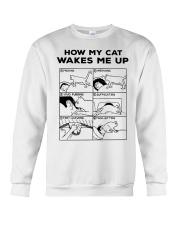 HOW MY CAT WAKES ME UP Crewneck Sweatshirt thumbnail