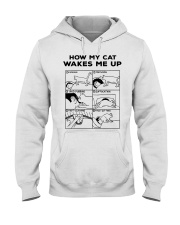 HOW MY CAT WAKES ME UP Hooded Sweatshirt thumbnail