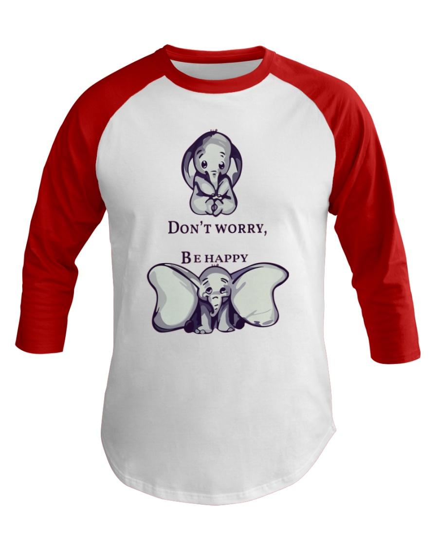 DON'T WORRY- ELEPHANT Baseball Tee