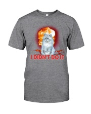 CAT AND THE EXPLOSION Classic T-Shirt tile