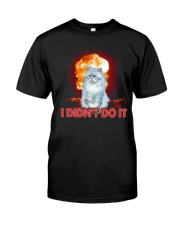 CAT AND THE EXPLOSION Classic T-Shirt front