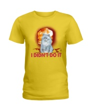 CAT AND THE EXPLOSION Ladies T-Shirt thumbnail