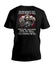 MEAN GUY-8 V-Neck T-Shirt thumbnail