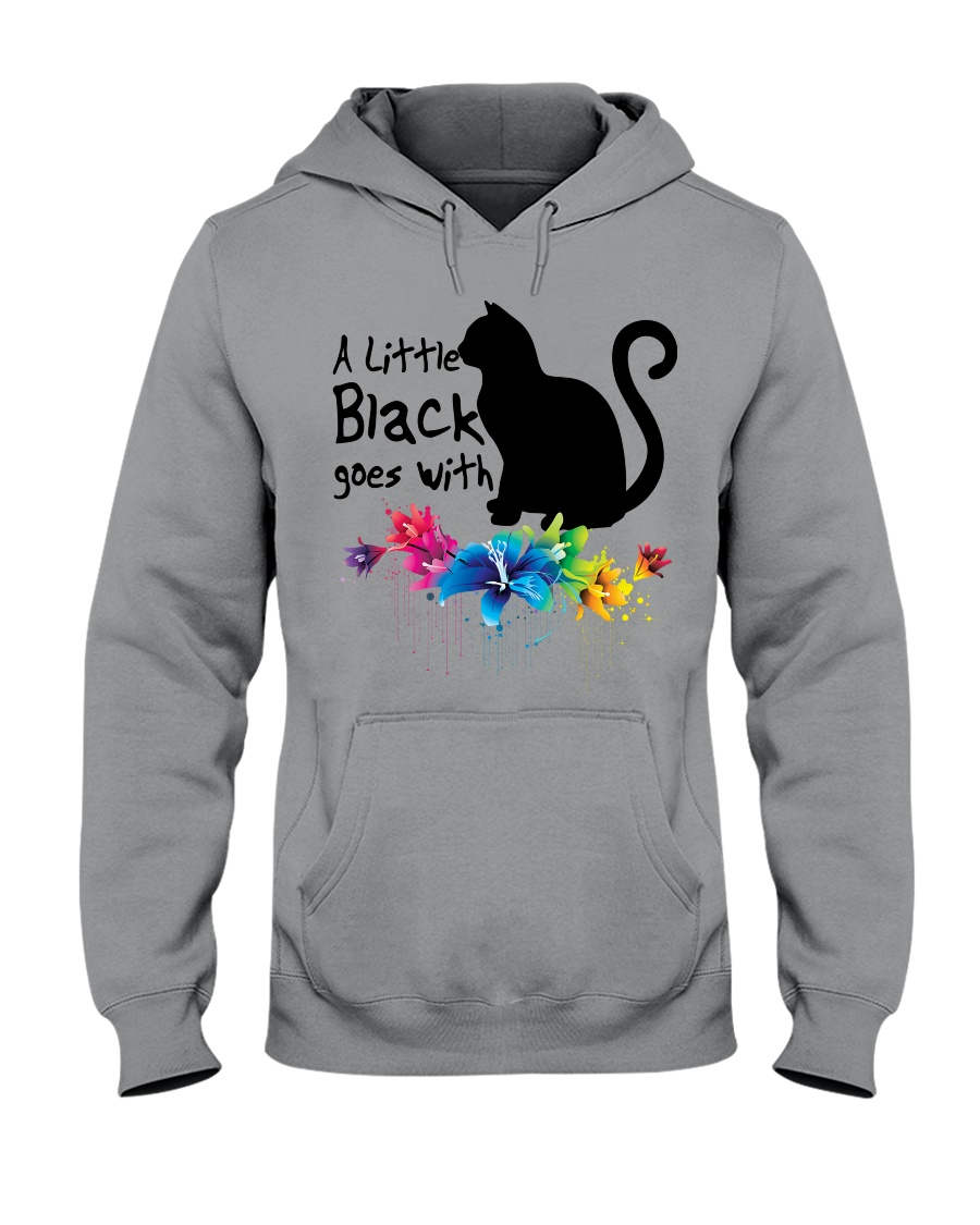 A LITTLE BLACK CAT Hooded Sweatshirt