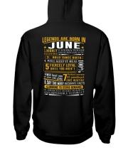 LEGENDS BORN-GUY-6 Hooded Sweatshirt back