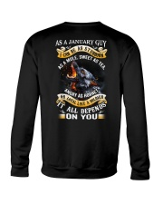 GUY-BORN-AS-1 Crewneck Sweatshirt thumbnail