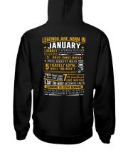 LEGENDS BORN-GUY-1 Hooded Sweatshirt back