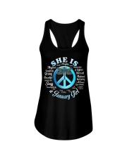 PEACE GIRL-1 Ladies Flowy Tank thumbnail