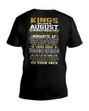 KING BORN IN-AUGUST V-Neck T-Shirt thumbnail