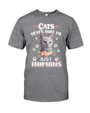 CATS NEVER HURT ME Classic T-Shirt front