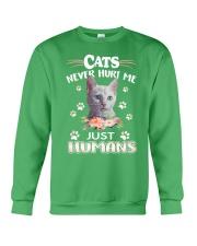 CATS NEVER HURT ME Crewneck Sweatshirt thumbnail