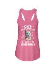 CATS NEVER HURT ME Ladies Flowy Tank thumbnail