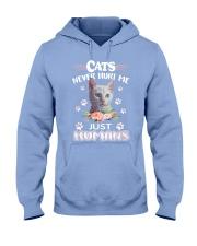 CATS NEVER HURT ME Hooded Sweatshirt thumbnail