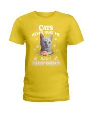 CATS NEVER HURT ME Ladies T-Shirt thumbnail