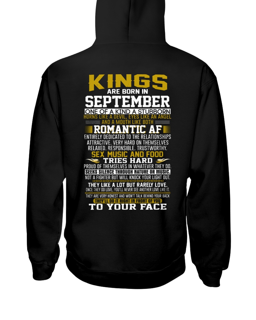 KING BORN IN-SEPTEMBER Hooded Sweatshirt