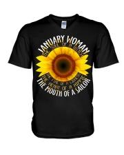 sunshine girl-1 V-Neck T-Shirt thumbnail