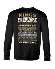 KING BORN IN-FEBRUARY Crewneck Sweatshirt thumbnail