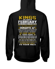 KING BORN IN-FEBRUARY Hooded Sweatshirt back