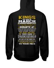 KING BORN IN-MARCH Hooded Sweatshirt back
