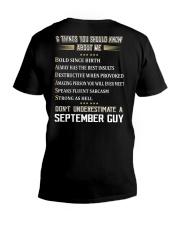 NEVER GUY-9 V-Neck T-Shirt thumbnail