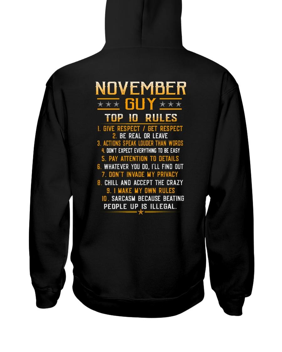 US-GUY RULES-11 Hooded Sweatshirt