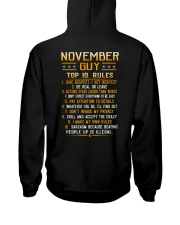 US-GUY RULES-11 Hooded Sweatshirt back