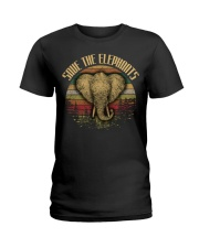 SAVE THE-ELEPHANT Ladies T-Shirt thumbnail