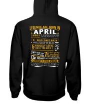 LEGENDS BORN-GUY-4 Hooded Sweatshirt back