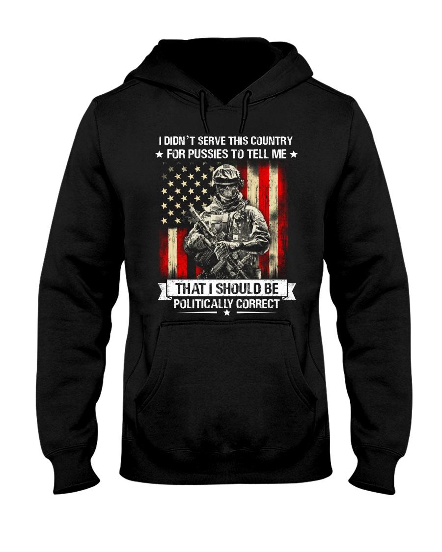 VET-I DIDN'T SERVE Hooded Sweatshirt