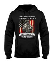 VET-I DIDN'T SERVE Hooded Sweatshirt front